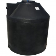 305 Gallon Black Plastic Water Tank