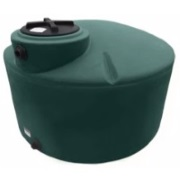 1100 Gallon Green Plastic Water Tank