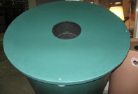 Desert Plastics 200 Gallon Villa Series Rain Barrel