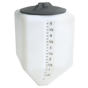5 Gallon Cone Bottom Specialty Rinse Tank 8 in. Lid