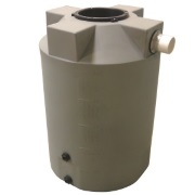 Poly-Mart 200 Gallon Rainwater Harvesting Tank - Olive Green