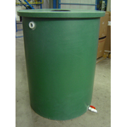Desert Plastics 55 Gallon Villa Series Rain Barrel