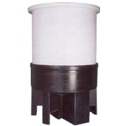 Polyethylene Cone Bottom Tank with Poly Stand (Chem-Tainer)