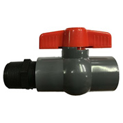"1"" PVC Ball Valve & Nipple Kit"