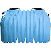 1250 Gallon Norwesco Bruiser Tank - 2 Compartments / 2 Manholes AZ, CO, NV, NM, OK, TX, CA