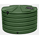 1110 Gallon Bushman Polyethylene Low Profile Round Tank