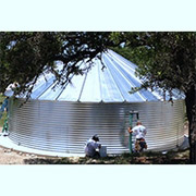 55249 Gallon 30 Deg Roof Steel Rainwater Tank