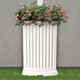 Madison 40 Gallon Decorative Rain Catcher Planter - White