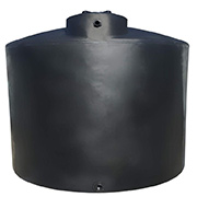 2500 Gallon Black Plastic Water Tank