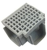 TEE TRENCH DRAIN & GRATE (GREY)
