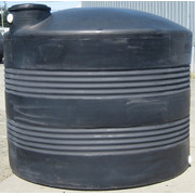 2500 Gallon Black Plastic Water Storage Tank