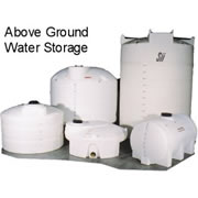 6000 Gallon White Plastic Water Tank