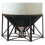 200, 300 or 350 gal-45 deg Cone Bottom Stand