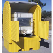 Lockable IBC Tank Storage Units